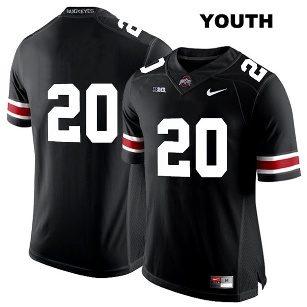 Pete Werner Youth Black White Font Ohio State Buckeyes Nike Authentic Stitched no. 20 College Football Jersey - Without Name - Pete Werner Jersey