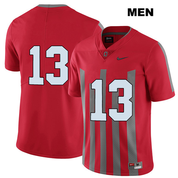 Rashod Berry Elite Mens Stitched Red Nike Ohio State Buckeyes Authentic no. 13 College Football Jersey - Without Name - Rashod Berry Jersey