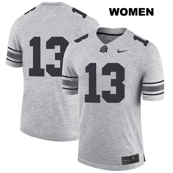 Rashod Berry Womens Nike Gray Stitched Ohio State Buckeyes Authentic no. 13 College Football Jersey - Without Name - Rashod Berry Jersey