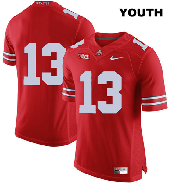 Rashod Berry Nike Youth Red Ohio State Buckeyes Authentic Stitched no. 13 College Football Jersey - Without Name - Rashod Berry Jersey