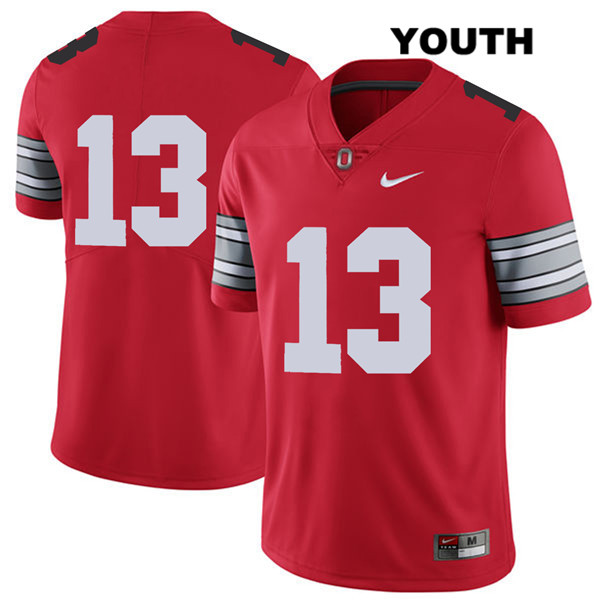Rashod Berry Stitched Youth Red Nike Ohio State Buckeyes Authentic 2018 Spring Game no. 13 College Football Jersey - Without Name - Rashod Berry Jersey