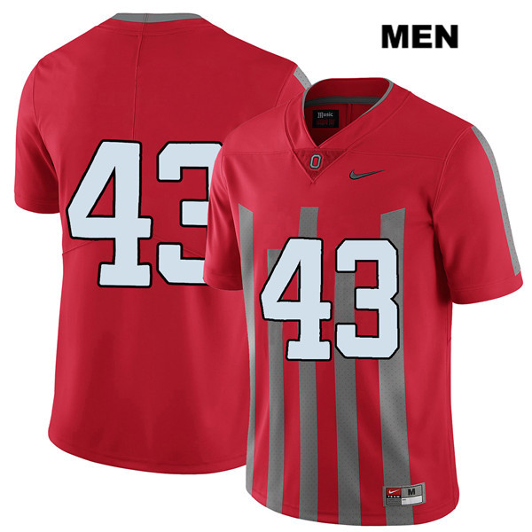 Robert Cope Mens Elite Red Ohio State Buckeyes Nike Stitched Authentic no. 43 College Football Jersey - Without Name