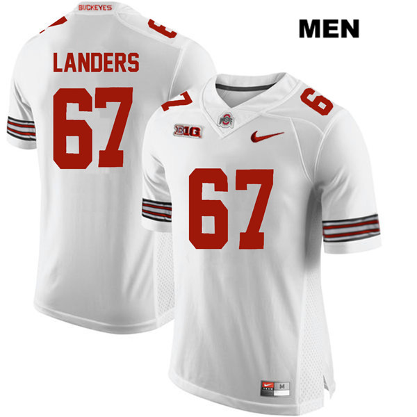 Robert Landers Nike Mens Stitched White Ohio State Buckeyes Authentic no. 67 College Football Jersey - Robert Landers Jersey