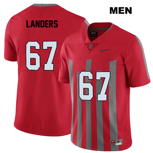 Robert Landers Mens Nike Red Ohio State Buckeyes Elite Authentic Stitched no. 67 College Football Jersey - Robert Landers Jersey