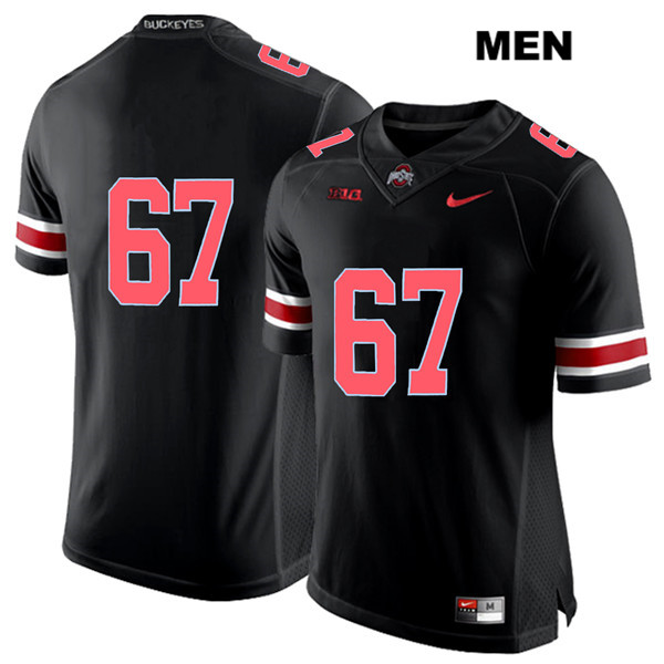 Robert Landers Stitched Mens Black Ohio State Buckeyes Authentic Red Font Nike no. 67 College Football Jersey - Without Name - Robert Landers Jersey