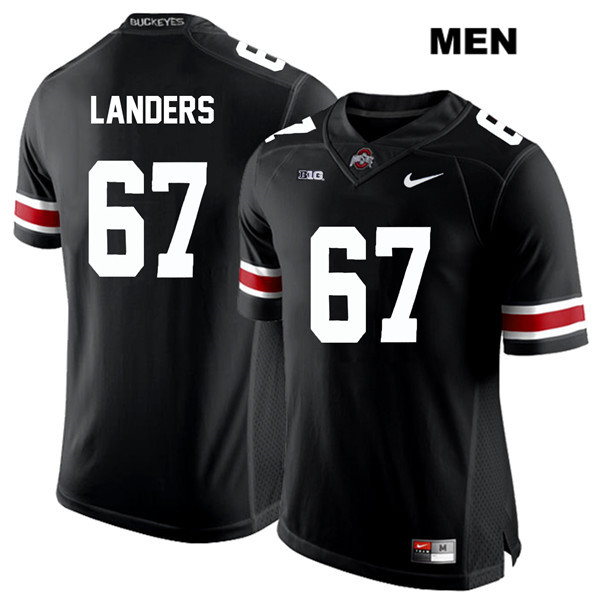 Robert Landers Mens Black Nike Ohio State Buckeyes White Font Authentic Stitched no. 67 College Football Jersey - Robert Landers Jersey