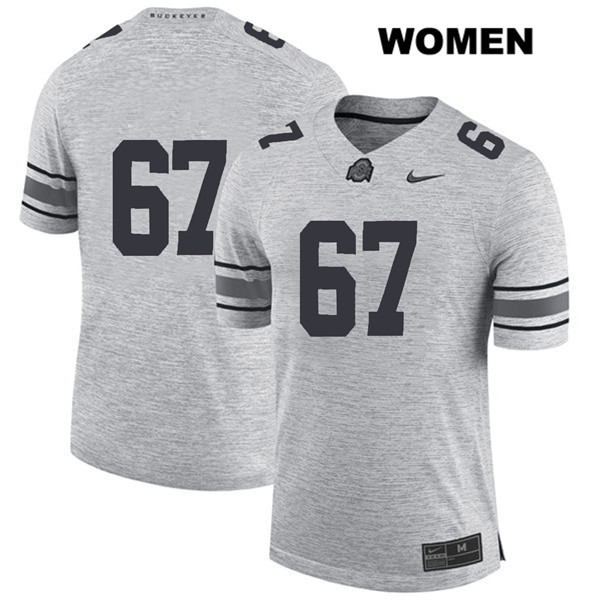 Robert Landers Stitched Nike Womens Gray Ohio State Buckeyes Authentic no. 67 College Football Jersey - Without Name - Robert Landers Jersey