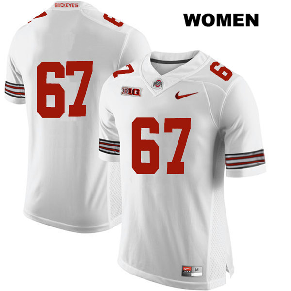 Nike Robert Landers Womens Stitched White Ohio State Buckeyes Authentic no. 67 College Football Jersey - Without Name - Robert Landers Jersey