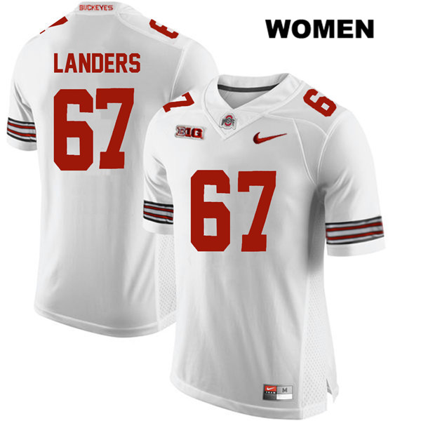 Robert Landers Womens White Nike Ohio State Buckeyes Stitched Authentic no. 67 College Football Jersey - Robert Landers Jersey