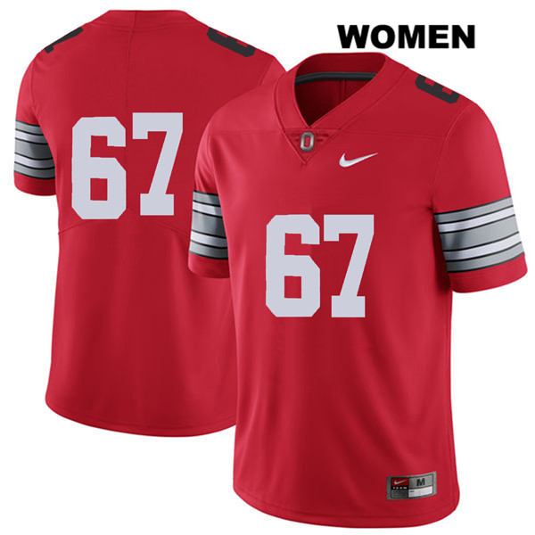 Robert Landers Stitched Womens Nike Red 2018 Spring Game Ohio State Buckeyes Authentic no. 67 College Football Jersey - Without Name - Robert Landers Jersey