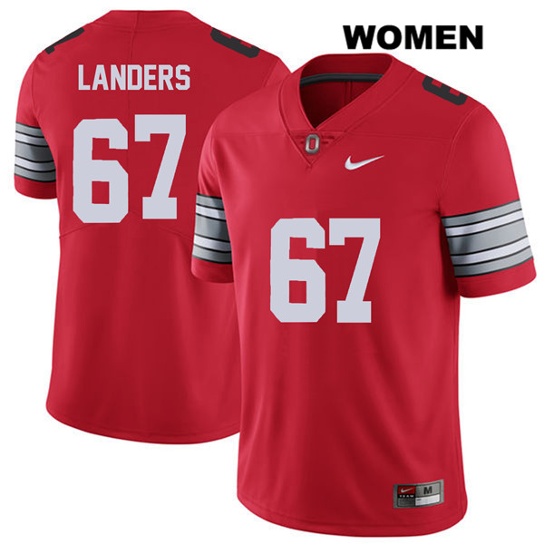 Robert Landers Stitched Womens Red Ohio State Buckeyes Nike Authentic 2018 Spring Game no. 67 College Football Jersey - Robert Landers Jersey