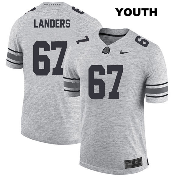 Robert Landers Youth Nike Gray Ohio State Buckeyes Stitched Authentic no. 67 College Football Jersey - Robert Landers Jersey