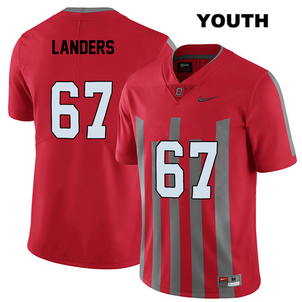 Robert Landers Elite Youth Red Nike Ohio State Buckeyes Stitched Authentic no. 67 College Football Jersey - Robert Landers Jersey