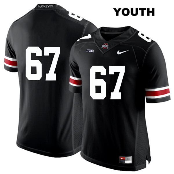 Robert Landers Youth Black White Font Stitched Ohio State Buckeyes Authentic Nike no. 67 College Football Jersey - Without Name - Robert Landers Jersey