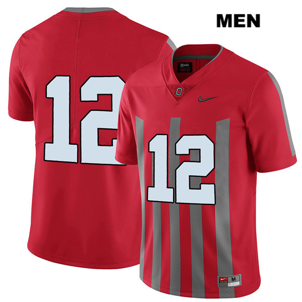 Sevyn Banks Mens Red Ohio State Buckeyes Stitched Authentic Elite Nike no. 12 College Football Jersey - Without Name - Sevyn Banks Jersey