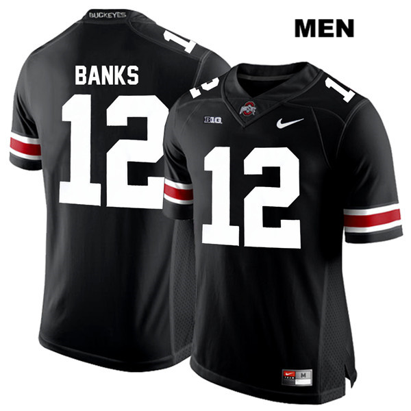 Sevyn Banks White Font Stitched Mens Black Nike Ohio State Buckeyes Authentic no. 12 College Football Jersey - Sevyn Banks Jersey