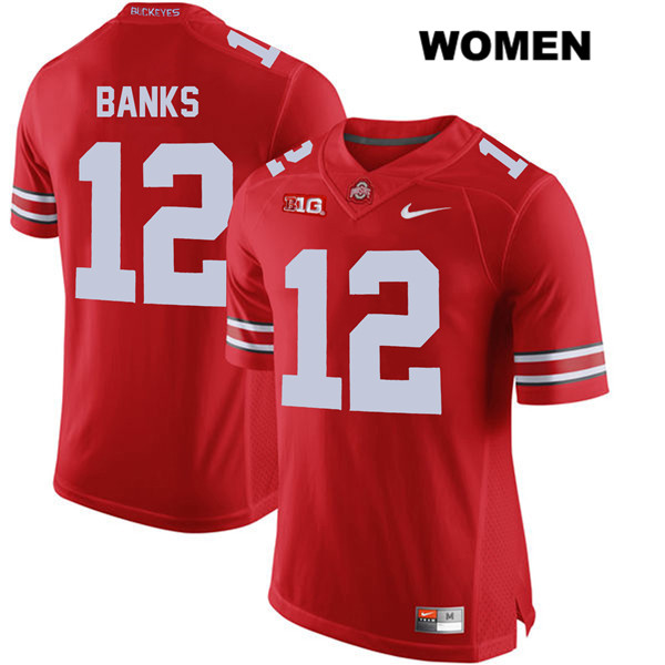Sevyn Banks Nike Womens Red Stitched Ohio State Buckeyes Authentic no. 12 College Football Jersey - Sevyn Banks Jersey