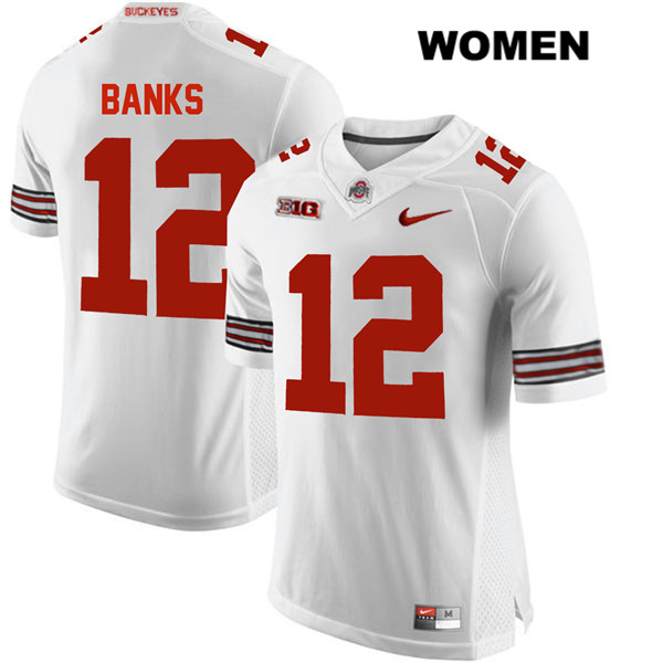 Sevyn Banks Nike Womens White Ohio State Buckeyes Stitched Authentic no. 12 College Football Jersey - Sevyn Banks Jersey
