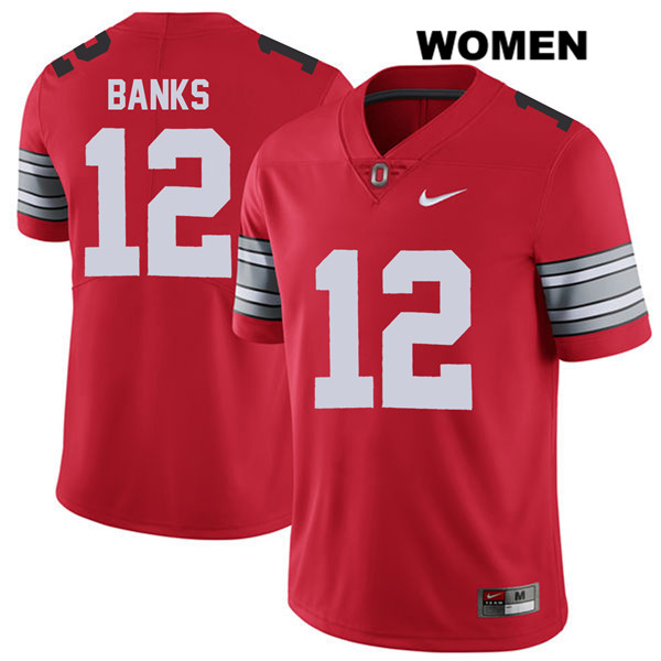 Sevyn Banks 2018 Spring Game Nike Womens Red Ohio State Buckeyes Authentic Stitched no. 12 College Football Jersey - Sevyn Banks Jersey