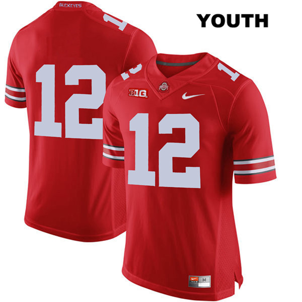 Sevyn Banks Stitched Youth Red Ohio State Buckeyes Nike Authentic no. 12 College Football Jersey - Without Name - Sevyn Banks Jersey