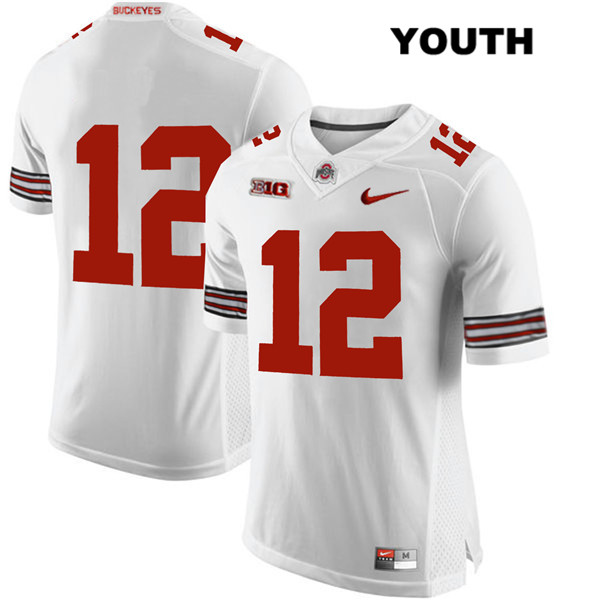 Sevyn Banks Stitched Youth Nike White Ohio State Buckeyes Authentic no. 12 College Football Jersey - Without Name - Sevyn Banks Jersey