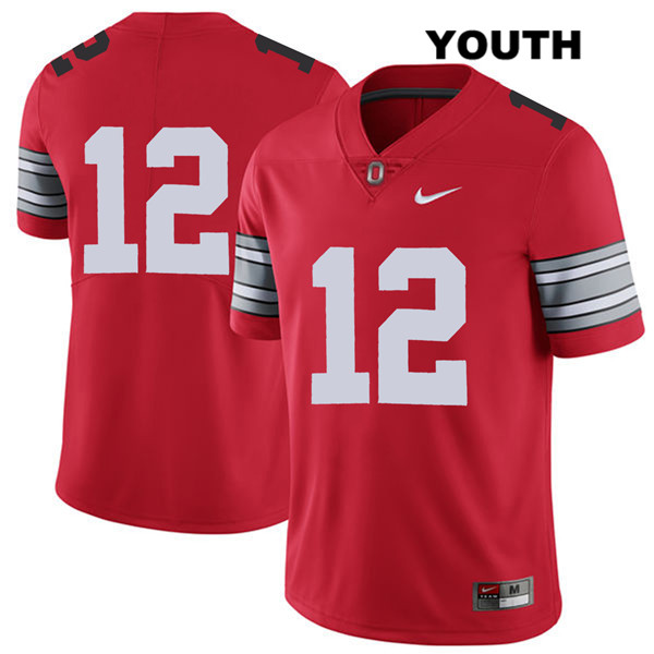 Sevyn Banks Nike Youth Red Ohio State Buckeyes 2018 Spring Game Authentic Stitched no. 12 College Football Jersey - Without Name - Sevyn Banks Jersey