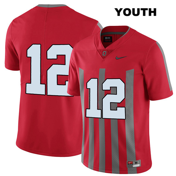 Sevyn Banks Elite Nike Youth Red Ohio State Buckeyes Authentic Stitched no. 12 College Football Jersey - Without Name - Sevyn Banks Jersey