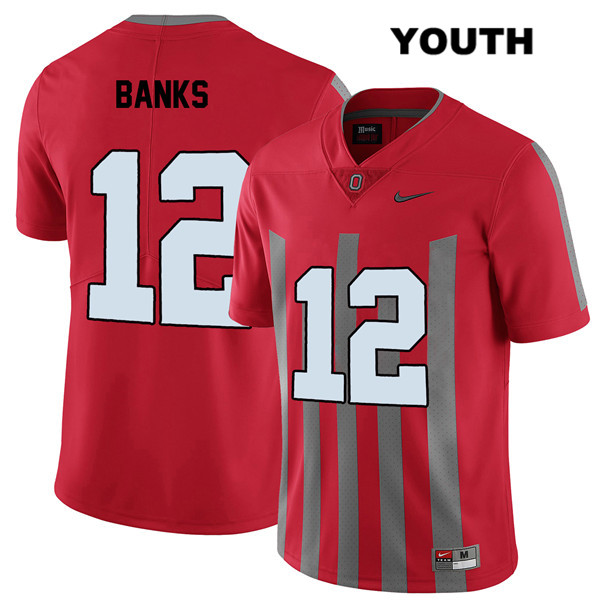 Sevyn Banks Elite Youth Stitched Red Nike Ohio State Buckeyes Authentic no. 12 College Football Jersey - Sevyn Banks Jersey