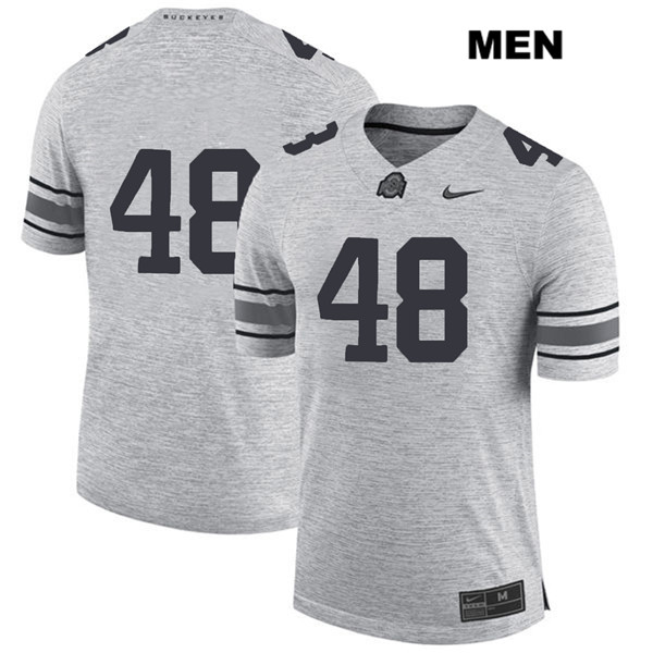 Tate Duarte Mens Gray Ohio State Buckeyes Stitched Nike Authentic no. 48 College Football Jersey - Without Name - Tate Duarte Jersey