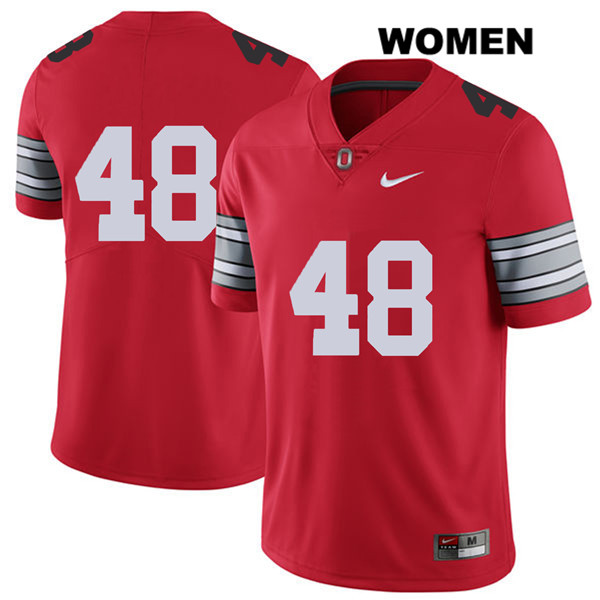 Tate Duarte 2018 Spring Game Womens Stitched Red Ohio State Buckeyes Authentic Nike no. 48 College Football Jersey - Without Name - Tate Duarte Jersey