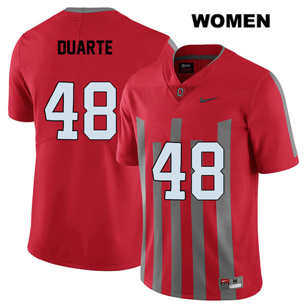Elite Tate Duarte Stitched Womens Red Ohio State Buckeyes Nike Authentic no. 48 College Football Jersey - Tate Duarte Jersey