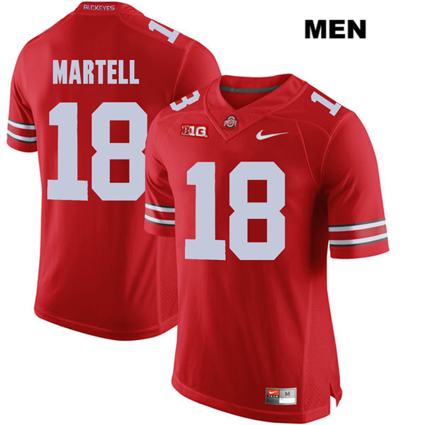 Tate Martell Nike Mens Red Ohio State Buckeyes Stitched Authentic no. 18 College Football Jersey - Tate Martell Jersey