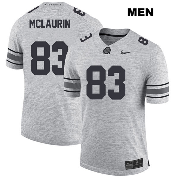 Terry McLaurin Mens Stitched Gray Ohio State Buckeyes Nike Authentic no. 83 College Football Jersey - Terry McLaurin Jersey