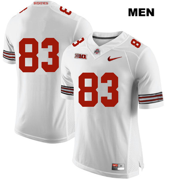 Terry McLaurin Nike Mens Stitched White Ohio State Buckeyes Authentic no. 83 College Football Jersey - Without Name - Terry McLaurin Jersey