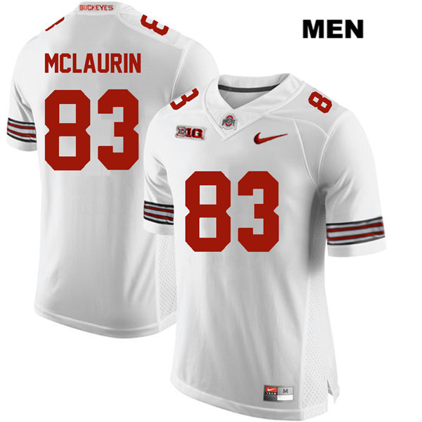 Stitched Terry McLaurin Mens White Ohio State Buckeyes Nike Authentic no. 83 College Football Jersey - Terry McLaurin Jersey