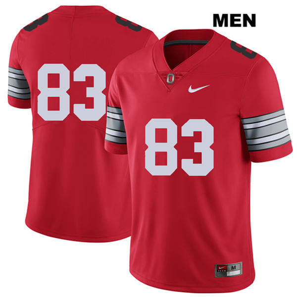Terry McLaurin Mens Stitched 2018 Spring Game Red Ohio State Buckeyes Nike Authentic no. 83 College Football Jersey - Without Name - Terry McLaurin Jersey