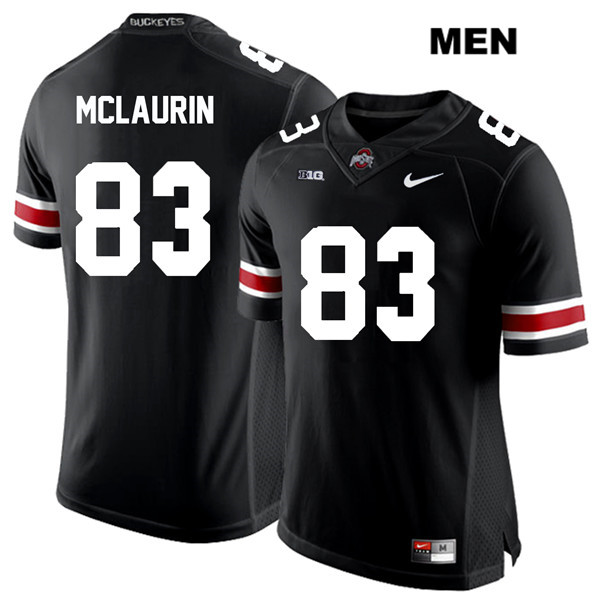 Terry McLaurin Nike Mens Black Ohio State Buckeyes Stitched Authentic White Font no. 83 College Football Jersey - Terry McLaurin Jersey
