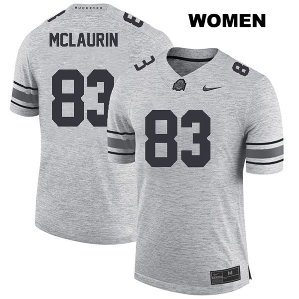 Nike Terry McLaurin Stitched Womens Gray Ohio State Buckeyes Authentic no. 83 College Football Jersey - Terry McLaurin Jersey