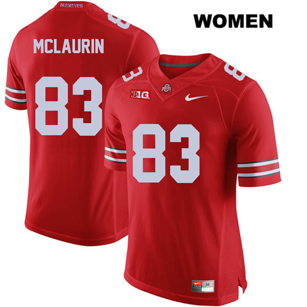 Terry McLaurin Womens Nike Stitched Red Ohio State Buckeyes Authentic no. 83 College Football Jersey - Terry McLaurin Jersey
