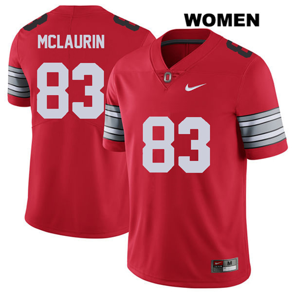 Terry McLaurin 2018 Spring Game Nike Womens Red Stitched Ohio State Buckeyes Authentic no. 83 College Football Jersey - Terry McLaurin Jersey