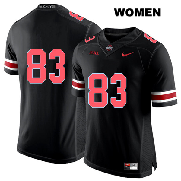 Terry McLaurin Womens Black Stitched Red Font Ohio State Buckeyes Nike Authentic no. 83 College Football Jersey - Without Name - Terry McLaurin Jersey