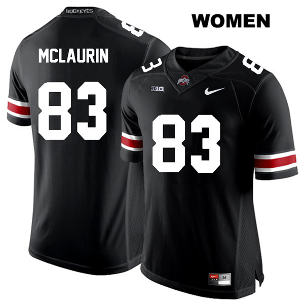Terry McLaurin Stitched Womens Black White Font Ohio State Buckeyes Nike Authentic no. 83 College Football Jersey - Terry McLaurin Jersey