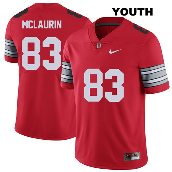 Terry McLaurin Nike Youth Red Stitched Ohio State Buckeyes Authentic 2018 Spring Game no. 83 College Football Jersey - Terry McLaurin Jersey