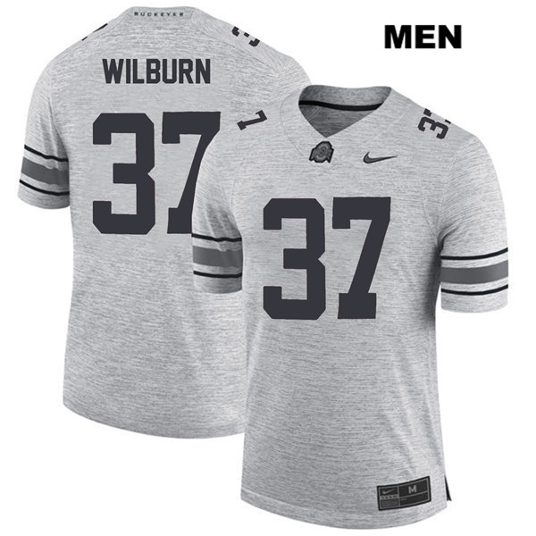Trayvon Wilburn Nike Stitched Mens Gray Ohio State Buckeyes Authentic no. 37 College Football Jersey - Trayvon Wilburn Jersey