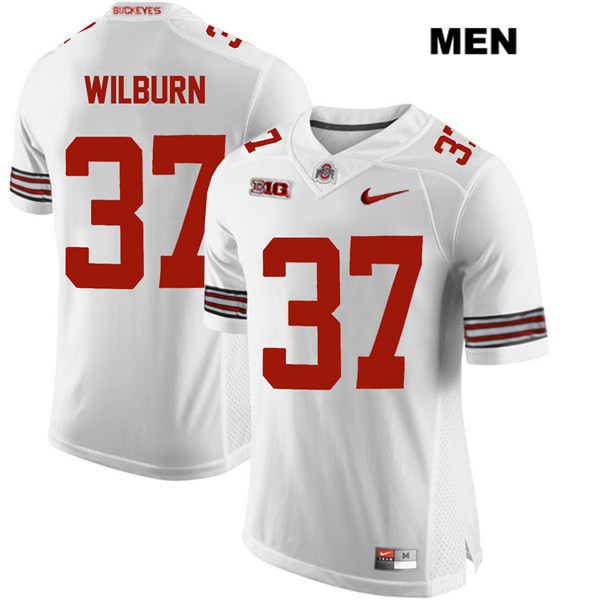 Trayvon Wilburn Mens White Ohio State Buckeyes Nike Stitched Authentic no. 37 College Football Jersey - Trayvon Wilburn Jersey