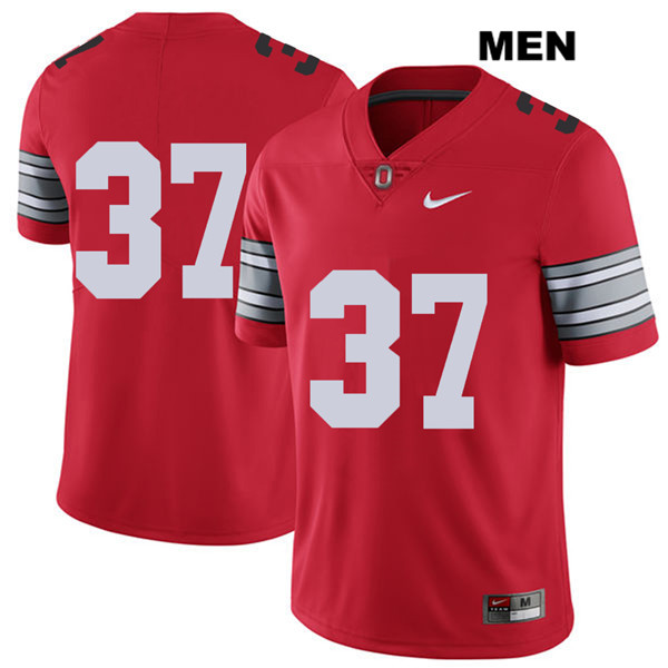 Trayvon Wilburn Nike Mens Stitched 2018 Spring Game Red Ohio State Buckeyes Authentic no. 37 College Football Jersey - Without Name - Trayvon Wilburn Jersey