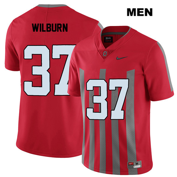 Trayvon Wilburn Nike Mens Red Elite Ohio State Buckeyes Stitched Authentic no. 37 College Football Jersey - Trayvon Wilburn Jersey