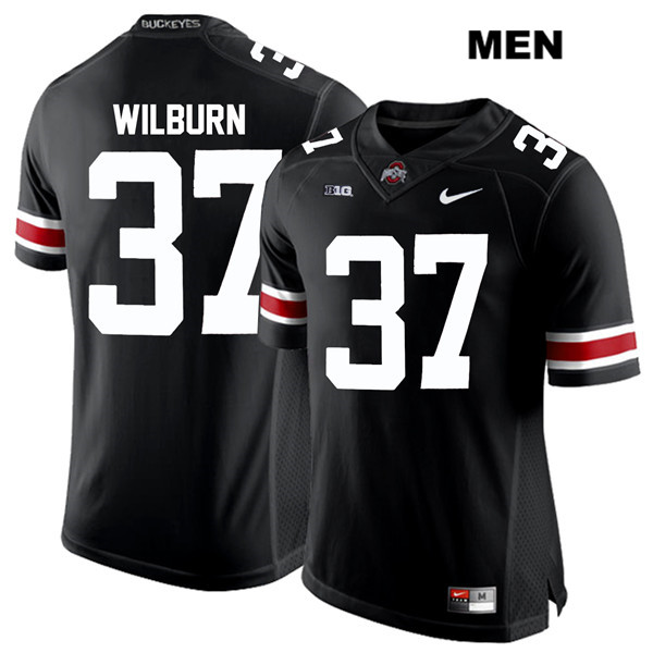 Trayvon Wilburn Mens Nike Black White Font Ohio State Buckeyes Stitched Authentic no. 37 College Football Jersey - Trayvon Wilburn Jersey