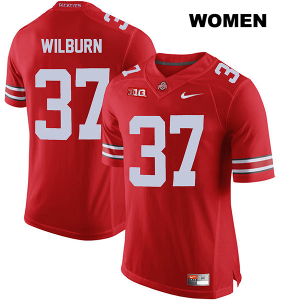 Trayvon Wilburn Nike Womens Stitched Red Ohio State Buckeyes Authentic no. 37 College Football Jersey - Trayvon Wilburn Jersey