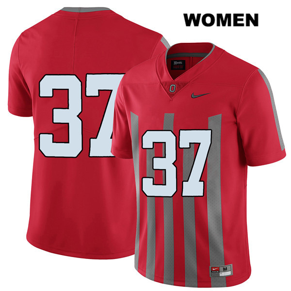 Trayvon Wilburn Nike Womens Red Elite Ohio State Buckeyes Stitched Authentic no. 37 College Football Jersey - Without Name - Trayvon Wilburn Jersey